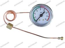 Manomètre à Cadran 16bar MacHine à Café Maker manomètre laiton capillaire R/G