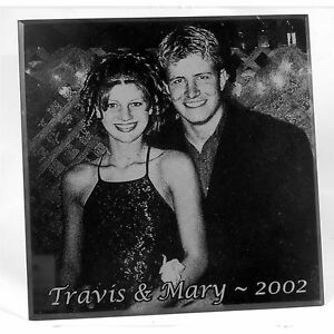 "Personalized Laser Engraved 4"" Marble Coasters Custom Valentines Day Gifts Her"