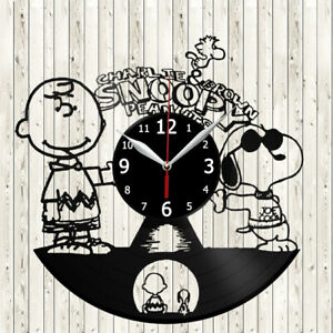 Charlie Brown & Snoopy Vinyl Record Wall Clock Decor Handmade 4062