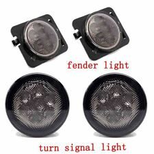Jeep Wrangler JK LED Turn Signal & Fender Side Light Combo Smoke Lens