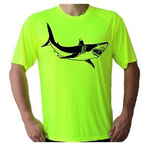 Shark Fish Fishing Boat UPF 50 T-Shirt Beach Water Sport UV Sun Protection