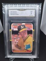 1987 Donruss Mark McGwire #46 Rated Rookie GMA NM 7