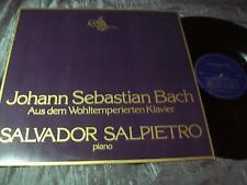 BACH WELL TEMPERATED CLAVIER - SALVADOR SALPIETRO PIANO - 1ED PRIVATE PRESS LP