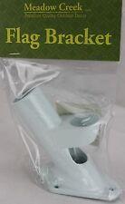 """Meadow Creek Strong & Durable Aluminum Flag Bracket for 1"""" Flag Pole NIP"""