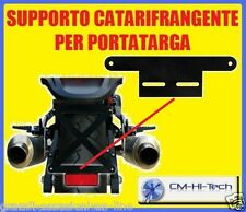 SUPPORTO PER CATARIFRANGENTE PORTA TARGA PORTATARGA NERO X MOTO MOTARD STRADA EC