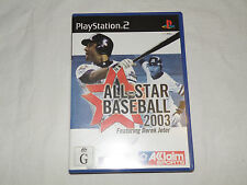 Lot of 2 Games NRL Rugby League 2 & All Star baseball 2003 Playstation 2 PAL