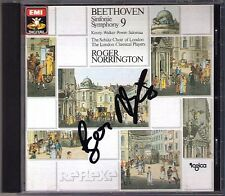 Roger NORRINGTON Signed BEETHOVEN Symphony No.9 Walker Kenny Power Salomaa CD WG