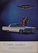 1962 Cadillac Coupe De Ville PRINT AD Sapphire Jeweled V & Crest by Cartier wht