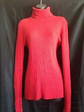 NWT! Charter Club Core Womens Knit Turtleneck Button-Tab Pullover Size:L  $49.00
