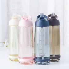 Outdoor Water Bottle Straw Sports Bottles Eco Friendly Hiking Camping Plastic