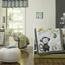 Happy Chic by Jonathan Adler Safari Monkey  4 Piece  Crib Bedding Set - Paisley