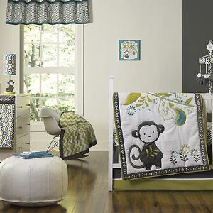 Happy Chic by Jonathan Adler Safari Monkey  4 Piece  Crib Bedding Set -Moroccan