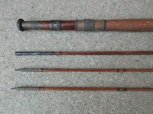 Antique Trout Fly Fishing Rod Maker P D Malloch Perth Scotland 3 Piece Extra End
