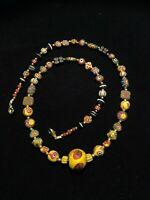 Ancient Roman Multicolored Roman Glass Beads Necklace