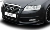 RDX Spoilerlippe für Audi A6 C6 Typ 4F Bj. 08-11 Schwert Front Ansatz Splitter