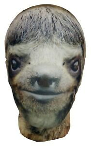 Sloth Carnival Full Head Lycra Morph Style Mask, Ice Age Sid, Halloween Costume