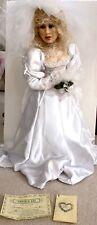 "Vintage Michele Malpica Theresa Bride Wedding 27"" Doll Artist Original Sign Ooak"