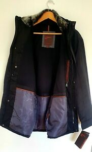 HAWKE& CO MEN WINTER JACKET L  BN With TAGS BLACK with hood