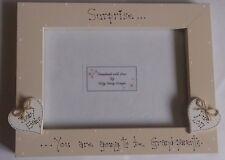"Bespoke Personalised surprise grandparents photo Frame 7""x5"" gift keepsake"