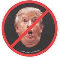 MS155-Y - Anti President Donald Trump Lips Image Color Mini Sticker