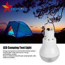 Portable Solar Panel Power 12  LED Bulb Lamp Outdoor Camp Tent Fishing Light 5V