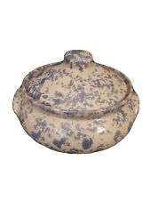 Handmade Blue Ceramic Soup Tureen w Lid Signed by Artist 10