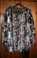 STUNNING! BNWT Olga de Polga PANTHER LEOPARD Soft Fake Fur JACKET COAT SIZE 12
