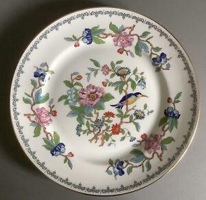 "Aynsley Pembroke Pattern Bone China Salad Plates x4 First Quality ~ 8 1/4""."