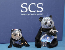 Swarovski Crystal Figurine 900918 Pandas Annual Edition 2008, 3.75'H - $550 NIB