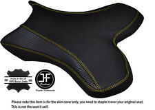 GRIP CARBON YELLOW STITCH CUSTOM FITS YAMAHA 1000 YZF R1 04-06 FRONT SEAT COVER