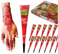 6 Pcs. Instant Chilli Red Henna Mehandi Cone from Vimal Golecha Sehnaaz India