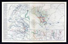 Civil War Map Dinwiddie Battle - Richmond Washington Montgomery Columbus Plans