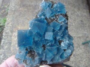 Mineralien : Fluorit auf Rauchquarz von Fujian , China.