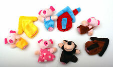The Three Little Pigs finger puppets, Fairy tales, Nursery Rhymes, Story telling