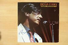 "Bryan Ferry AUTOGRAFO SIGNED LP-COVER ""Let's Stick Together"" vinile"