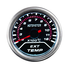 "2"" 52mm Tint Smoke Len Exhaust Gas Temperature Pointer Gauge Meter US Shipping"