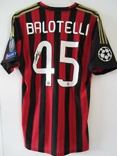 Adidas 13-14 AC Milan CL Player Issue Home Jersey Balotelli Autograph Football