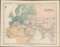 1870 Johnston Antique Map of The Ancient World