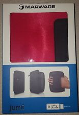 Brand New Red & Black Jurni Durable Zippered Cover by Marware for Kindle Fire