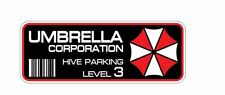2x Umbrella Corporation Hive Parking Aufkleber Resident Evil Zombie Raccoon City