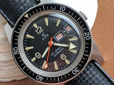 Vintage Elgin M135 Day-Date Diver Watch w/Bakelite Bezel,All SS Case,Tropic Band