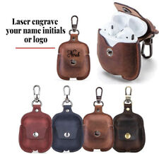 For AirPod Case Cover Leather Personalized Gift  for Apple AirPods 2 1