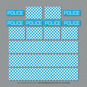 Police Chequered Decals Toy Car Stripes Mountain Bike Bicycle Stickers