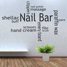 Nail Bar Vinyl Wall Decal Beauty Nail Salon Collage Wall Art Sticker Decoration