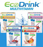30 Packets Eco Drink EcoDrink Complete Multivitamin Electrolyt Mix Select Flavor