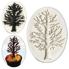 3D Christmas Tree Branch Silicone Mold Sugarcraft Fondant Cake Decorating Mould