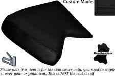 Negro Stitch Custom encaja Cagiva Mito 125 cuartos Frontal De Cuero Funda De Asiento