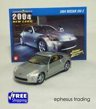 Johnny Lightning Strike 2004 Nissan Z 350Z 350 Coupe Silver +Card #8 1/64 MINT!