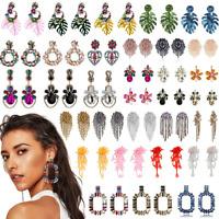 Fashion Bohemian Earrings Geometry Flower Long Tassel Drop Dangle Women Jewelry