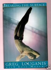 BREAKING THE SURFACE-OLYMPIC SWIMMER GREG LOUGANIS SIGNED HB-VERY GOOD CONDITION